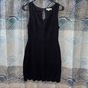 Scalloped Little Black Dress